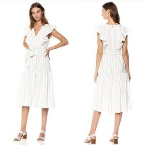 NWT Rebecca Taylor Slyd Stripe Nude Flow Dress